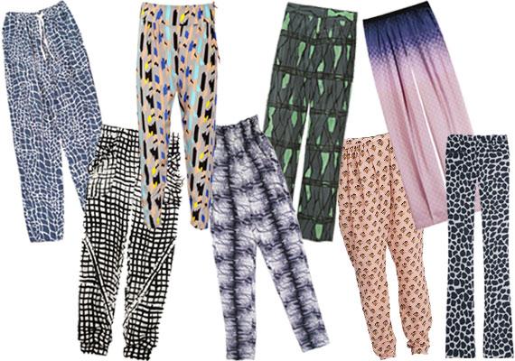 Les pantalons imprimés
