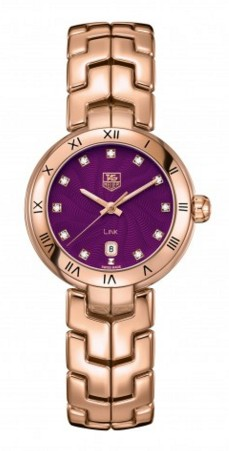montre tag heuer or rose