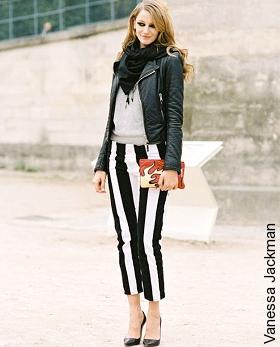pantalon rayures verticales